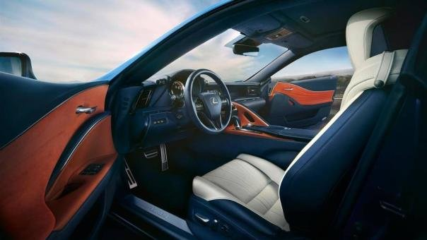 Interior of the LC 500 Blue Structural Edition
