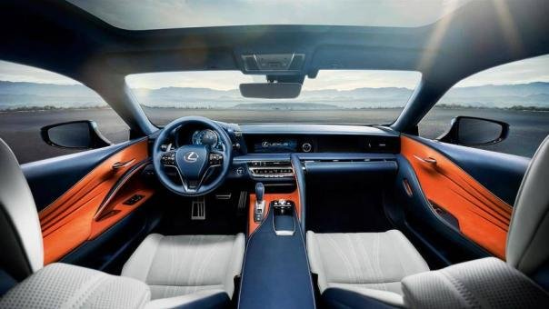Interior of the LC 500 Structural Blue edition