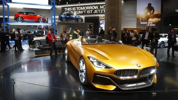BMW Z4 Concept angular front at Frankfurt Motor Show 2017