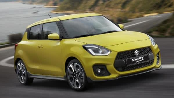 Suzuki Swift Sport 2018 on the road