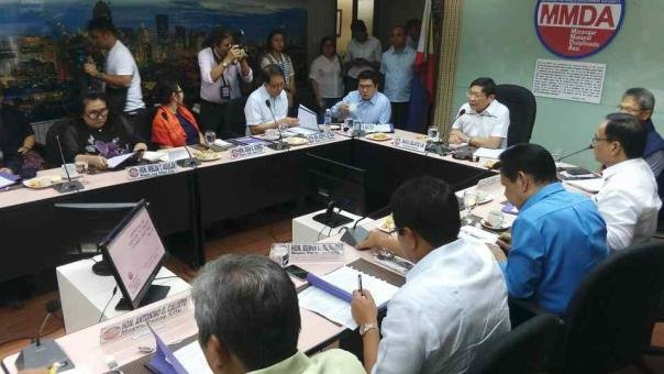A meeting of the Metropolitan Manila Development (MMDA)