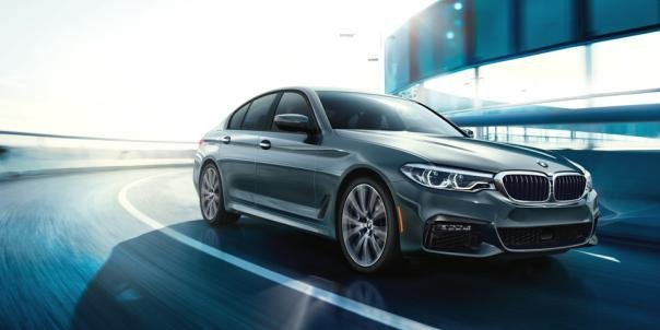 all-new 5 Series BMW on the road