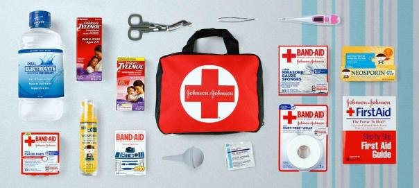 First-aid items for safety