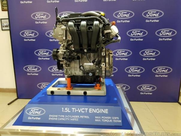 Ford EcoSport 2018's 1.5-liter Ti-VCT engine