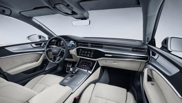 Interior of the Audi A7 2019