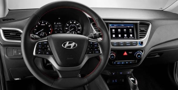 Hyundai Accent 2018 sedan dashboard