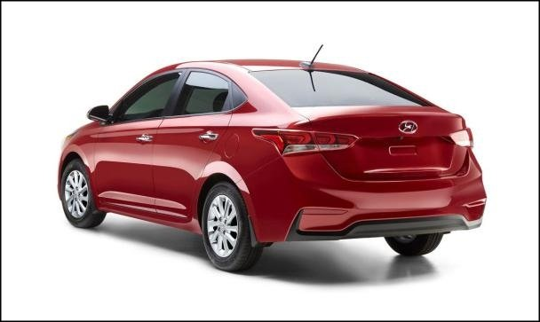 Hyundai Accent 2018 sedan angular rear