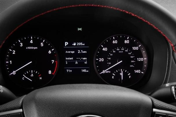 Hyundai Accent 2018 sedan analog gauges