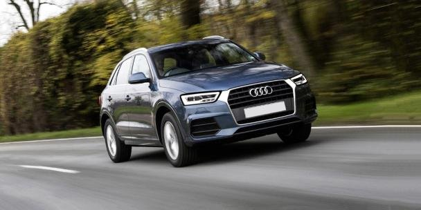 Audi Q3 on the road