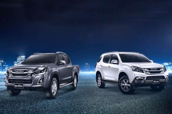 Angular front of the Isuzu D-Max and Isuzu MU-X 2018