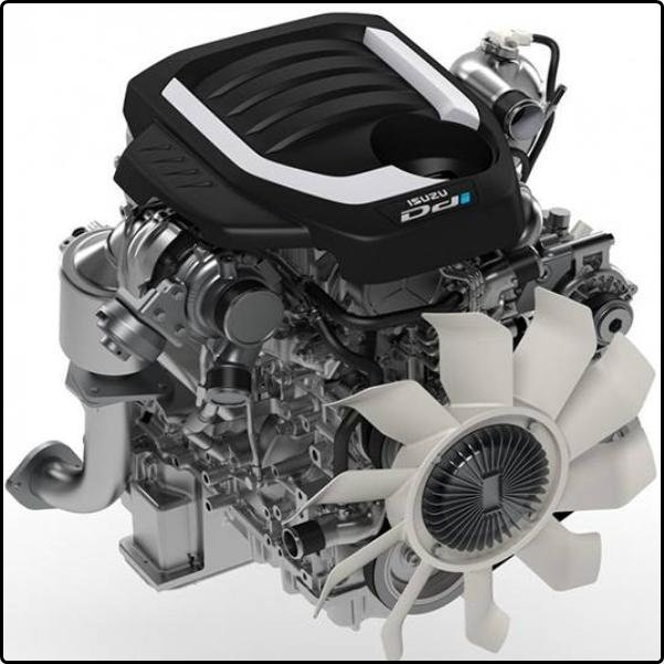 The 1.9L version of Isuzu turbodiesel Blue Power Technology engine