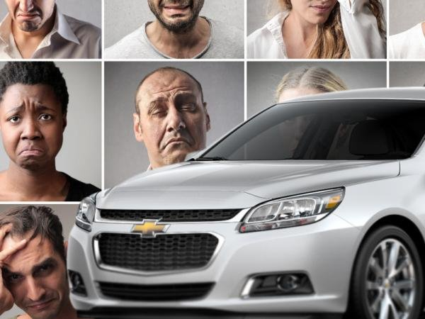 regretful facial expression of car buyers