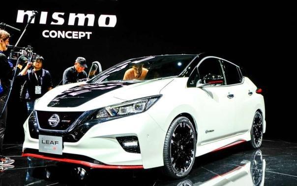 Nissan Leaf Nismo hatchback concept angular front