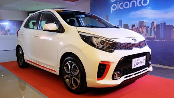Kia Picanto for sale on display at philippine launch