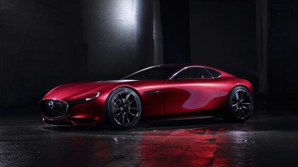 Angular front of a Mazda RX Vision Concept