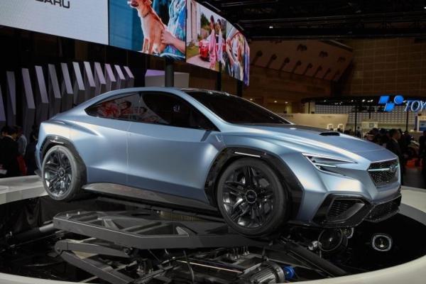 Angular front of the Subaru Viziv Performance Concept