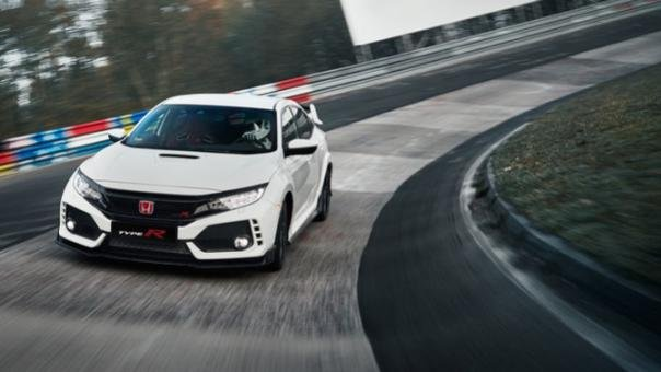 A honda Civic Type R 2017 on the road