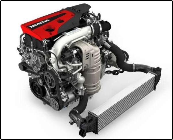 The Honda Civic Type R engine