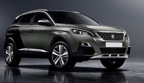 Angular front of a Peugeot 3008 2018