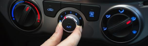 Turn off a car air-condition