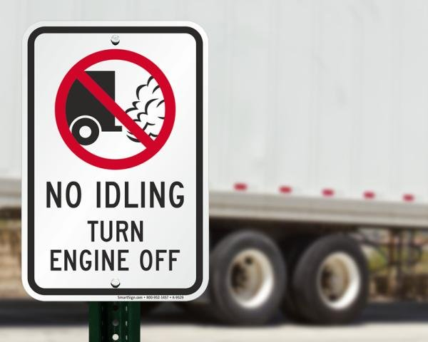 No idling traffic sign