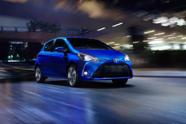 A Toyota Yaris 2018 on the road