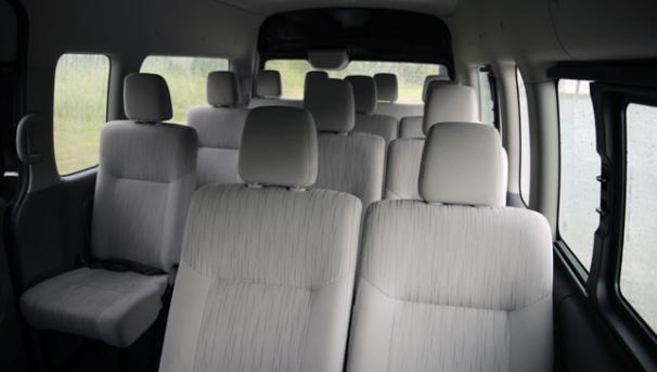 The Urvan Premium 2018 seats