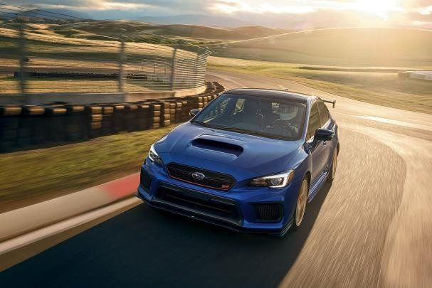 Subaru WRX STI 2018 on the road