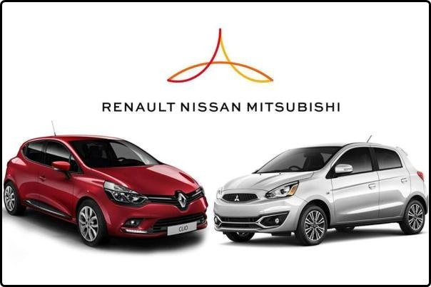 Renault Clio and Mitsubishi Mirage