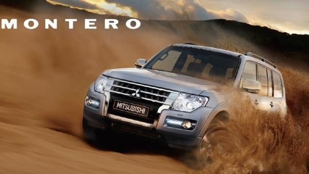 The Mitsubishi Montero 2017 crossing sand