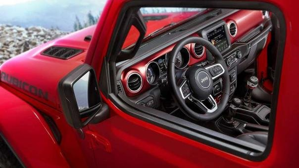 Dashboard of the Jeep Wrangler 2018