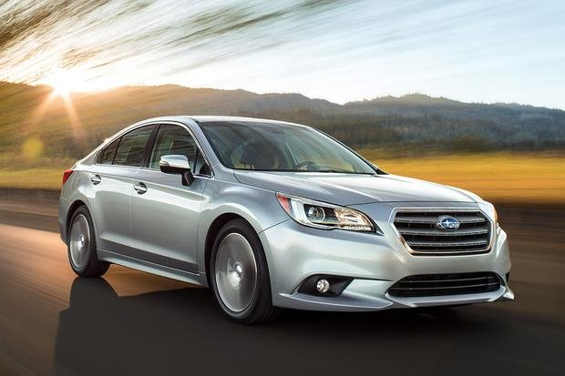 Subaru Legacy on the road