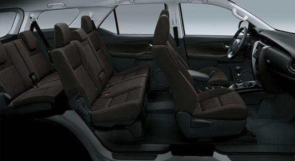 Toyota Fortuner 2018 seating