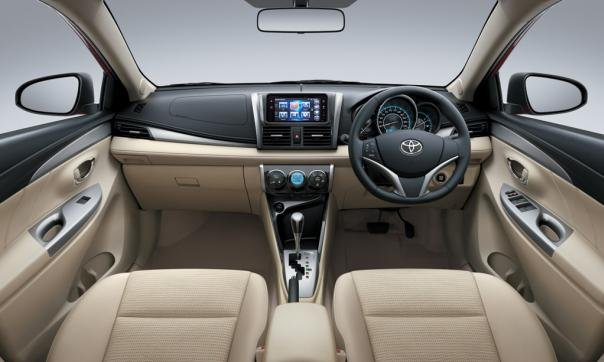 Dashboard area of a Toyota Vios 2018