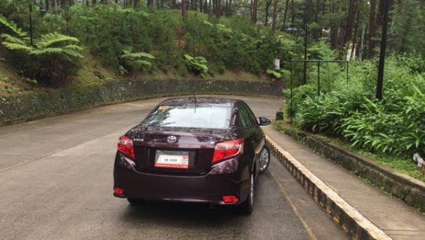 Angular rear of a Toyota Vios 2018
