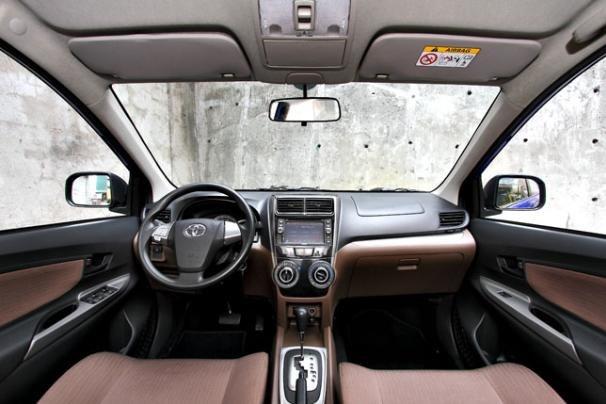 Interior of a Toyota Avanza 2018