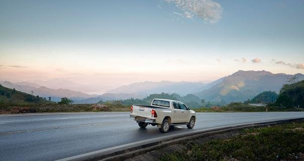 Toyota Hilux 2018 on the road