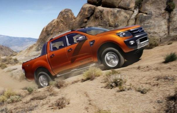 A Ford Ranger 2018 on the rough road