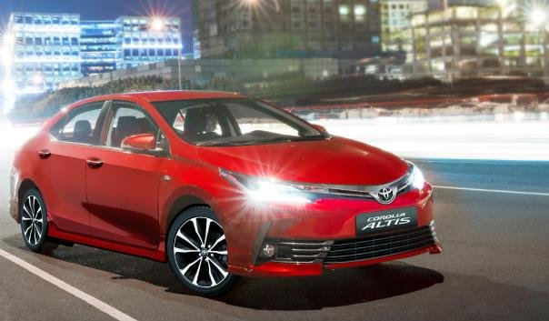 Toyota Altis 2018 on the road