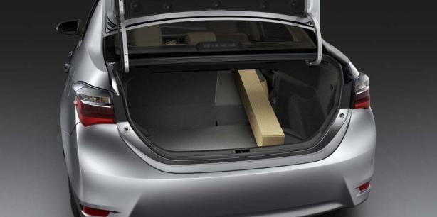 Toyota Altis 2018 cargo space