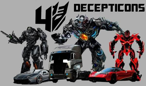 Decepticons from the transformers