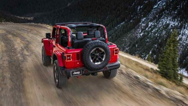Jeep Wrangler 2018 angular rear