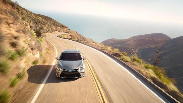 Toyota Camry 2017 on the road