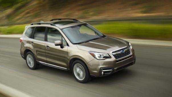 Subaru Forester on the road