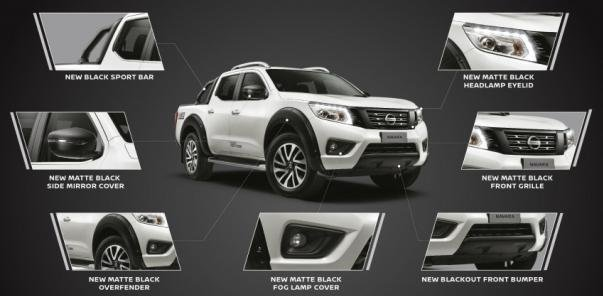 2018 Nissan Navara Black Series components
