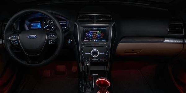 Entertainment Source Is From An 8 Inch Compatible With SYNC Voice Activated Communication And System Ford Explorer 2018 Convenience Features