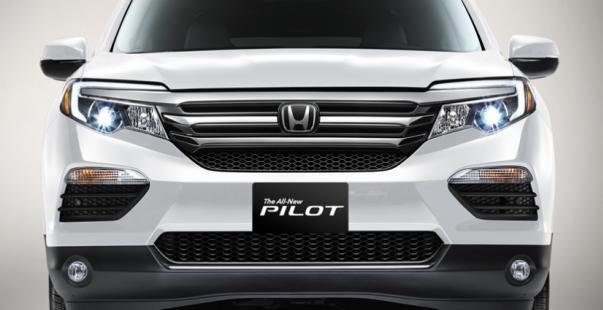 Honda Pilot 2018 front fascia