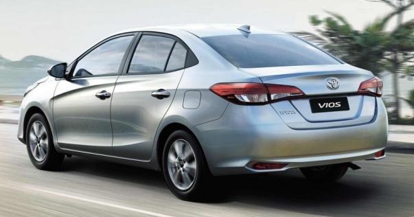 Toyota Vios 2018 angular rear