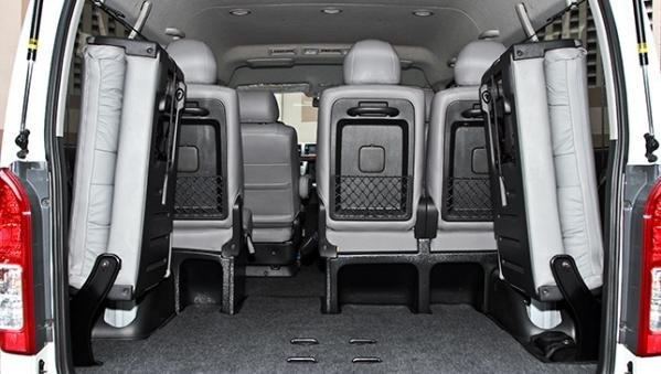 Toyota Hiace 2018 cargo space