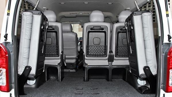 Toyota Hiace 2018 cargo space